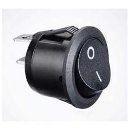 Interrupteur Noir rond diam. 20 mm