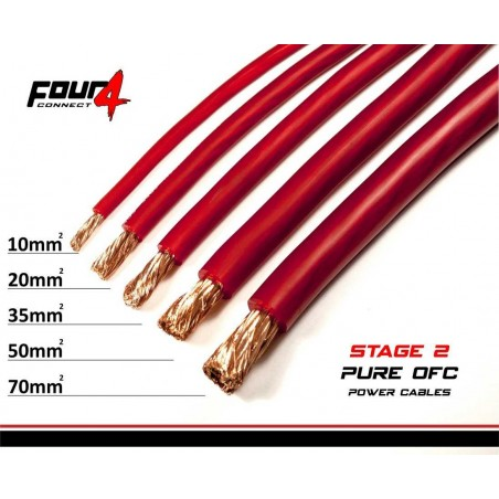 4 Connect 70 mm² OFC rouge Ultra flexible (100% cuivre)