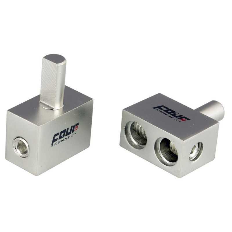 4 Connect 2 borniers de haut-parleur (1x6mm² + 2x10mm²)