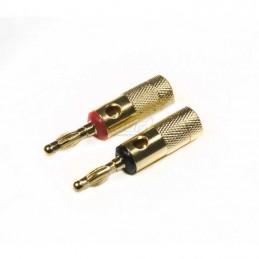 4 Connect connecteurs banane plaqué Or (2pcs, 8mm² in)