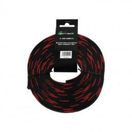 4 Connect 10 m Gaine nylon 12/25mm rouge et noir