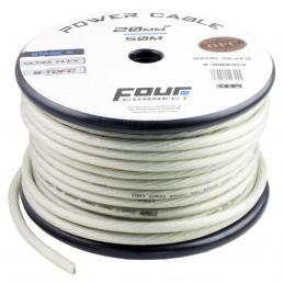 4 Connect 20 mm² S-TOFC Argent Ultra flexible Stage 3 (100% cuivre étamé à l'Argent)
