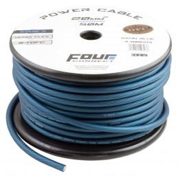 4 Connect 20 mm² S-TOFC Bleu Ultra flexible Stage 3 (100% cuivre étamé à l'Argent)
