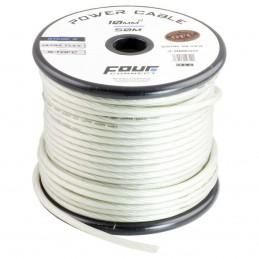 4 Connect 10 mm² S-TOFC Argent Ultra flexible Stage 3 (100% cuivre étamé à l'Argent)