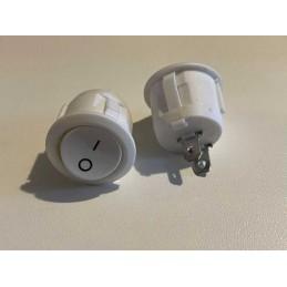 Interrupteur Blanc rond diam. 20 mm