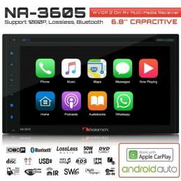 """NAKAMICHI NA3605 Ecran 6.8"""" (4x50w, 3 RCA 4v, 2 Din)"""