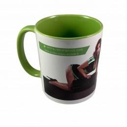 Deaf Bonce Mug Vert et Blanc