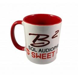 B2 Audio Mug Blanc et Rouge (logo noir et Rouge)