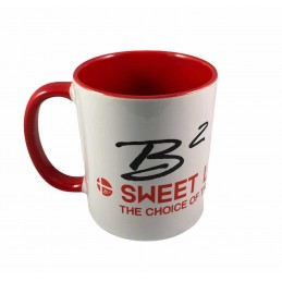 B2 Audio Mug Blanc et Rouge (logo noir)
