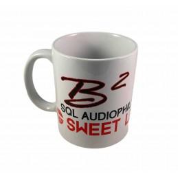 B2 Audio Mug Blanc (logo noir et Rouge)